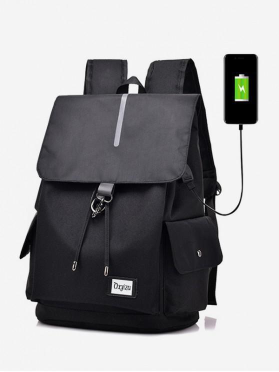 fancy Waterproof Simple Jointed Computer Backpack - BLACK