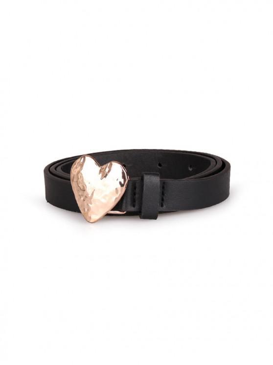shops Heart Shape Metal Buckle Belt - BLACK