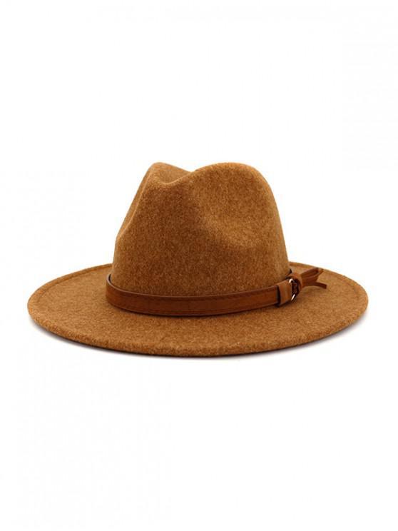 Chapeau de Jazz Fourré Décoré de Corde - Orange Tigre