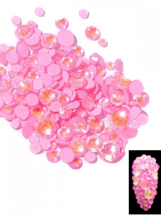 sale Glowing Fluorescent Glitter Faux Diamond Nail Decoration - BLUSH PINK