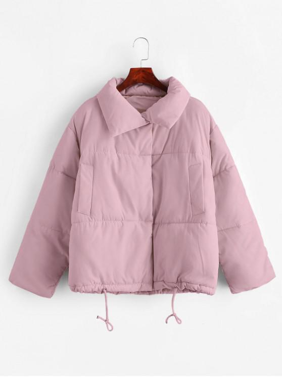 Bottone a pressione con coulisse tasca del cappotto imbottito - Mauve S