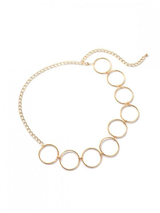 online Round Shape Metal Chain Waist Belt - GOLD