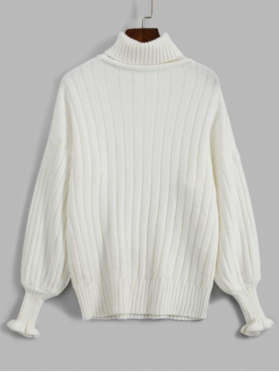 online Loose Turtleneck Sweater - WHITE ONE SIZE