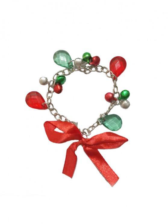Weihnachten Bowknot Bell-Strass-Kind-Kettenarmband - Multi-A