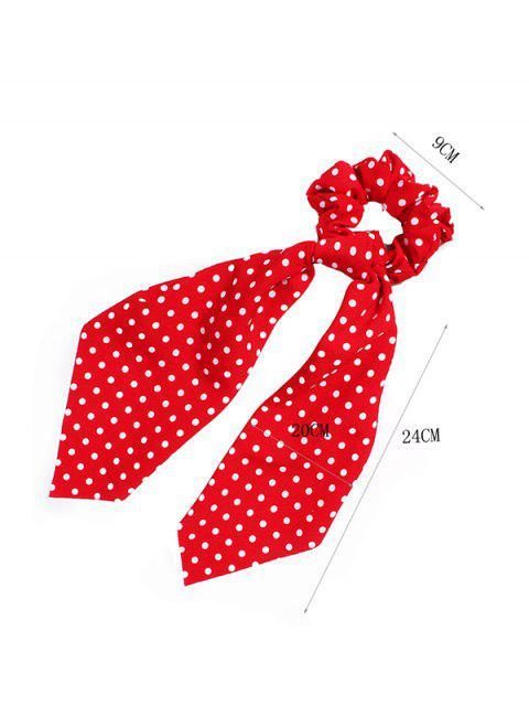 Anillo de Lunares con Cinta de Imitacion de Forma de Anillo - Rojo  Mobile
