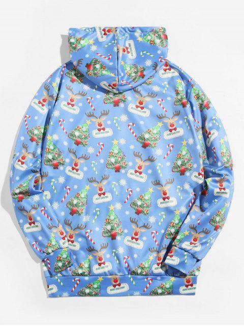Árbol de Navidad con capucha Impreso Animal - Azul L Mobile