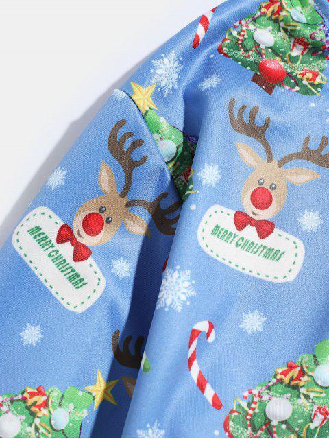 Árbol de Navidad con capucha Impreso Animal - Azul XL Mobile