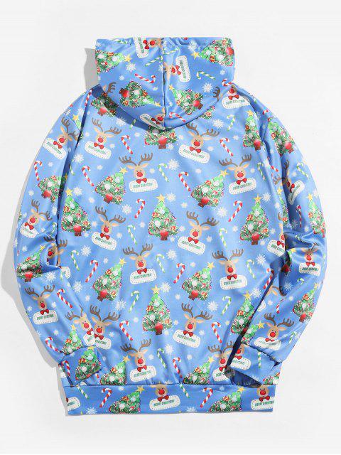 Árbol de Navidad con capucha Impreso Animal - Azul 2XL Mobile