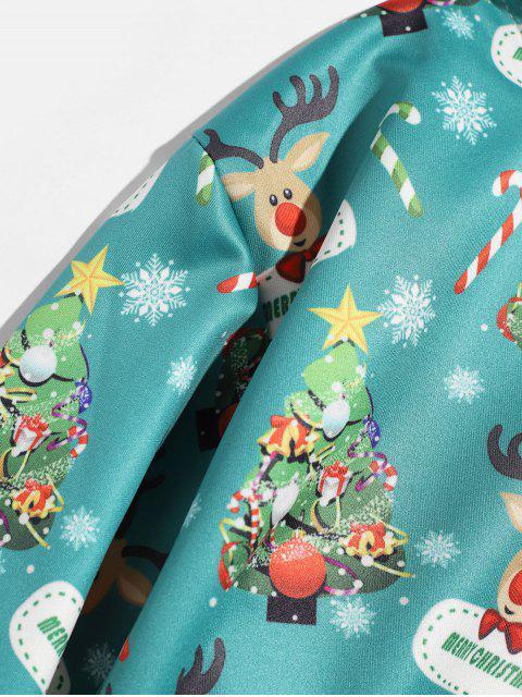 Árbol de Navidad con capucha Impreso Animal - Azul Verde Guacamayo  M Mobile