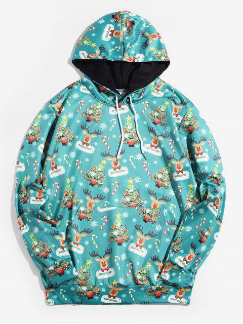 Árbol de Navidad con capucha Impreso Animal - Azul Verde Guacamayo  4XL Mobile