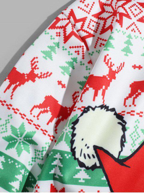 Copo de nieve de Elk con capucha Impreso - Multicolor-A 4XL Mobile