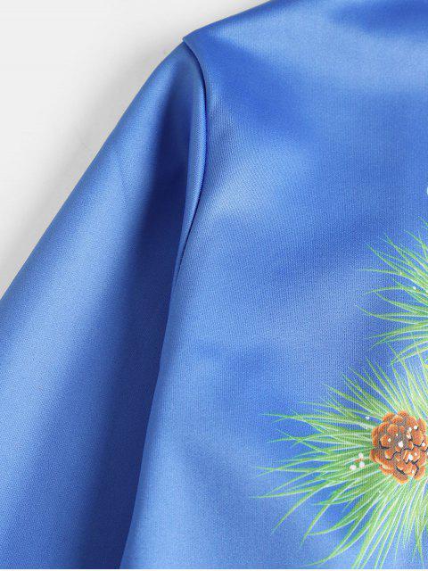 Sweat-shirt de Noël Lettre Crâne Imprimées - Bleu 2XL Mobile