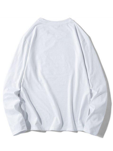 Impreso historieta gráfica ocasional de la camiseta - Blanco S Mobile