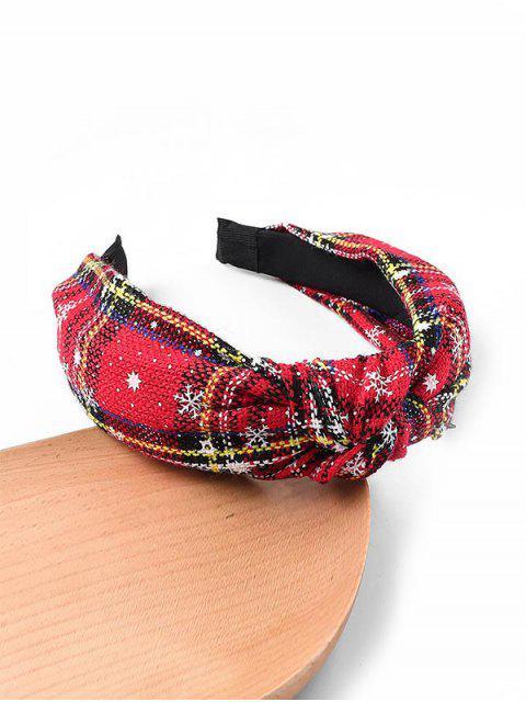 shop Gingham Snowflake Christmas Hairband - YELLOW  Mobile
