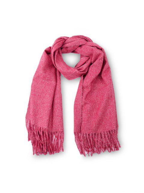 sale Fringed Faux Cashmere Long Scarf - NEON PINK REGULAR Mobile