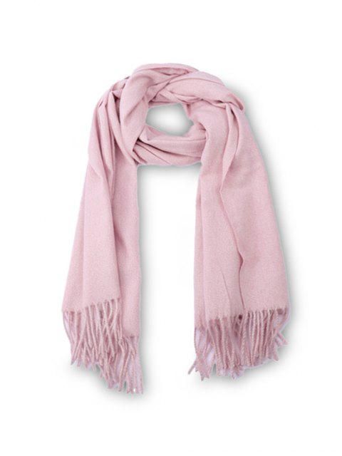 chic Fringed Faux Cashmere Long Scarf - PIG PINK REGULAR Mobile