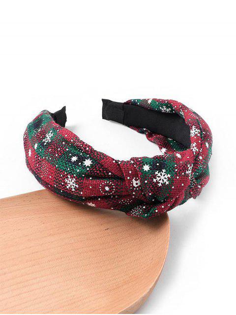 womens Gingham Snowflake Christmas Hairband - CADETBLUE  Mobile