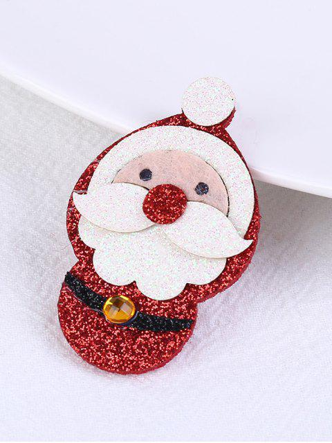 Broche Père Noël à Paillettes - Rouge  Mobile