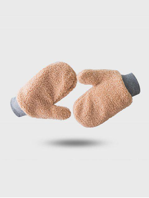 outfits Winter Fleece Solid Mitts - BROWN SUGAR  Mobile