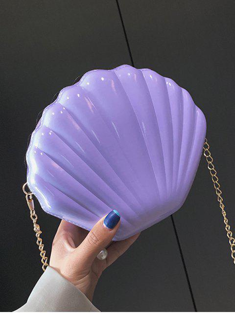 Bolso de la forma del hombro mini cadena de Shell - Color de malva  Mobile