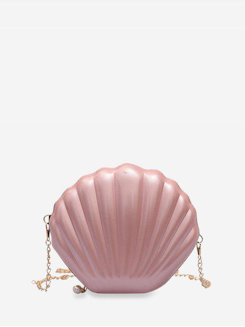 Bolso de la forma del hombro mini cadena de Shell - Rosado  Mobile