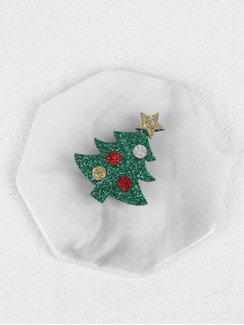 Broche Sapin de Noël et Etoile à Paillettes - Vert Clair de Mer  Mobile