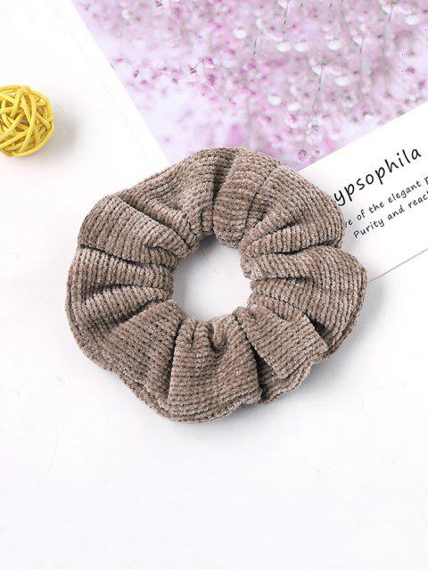 shop Solid Suede Intestine Ring Elastic Hair Band - KHAKI  Mobile