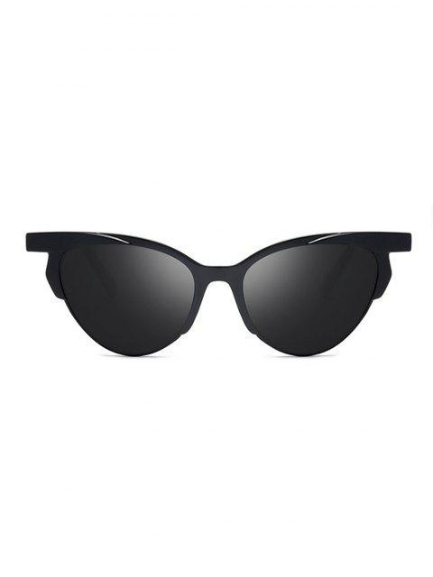 chic Anti UV Catty Eye Driving Sunglasses - BLACK  Mobile