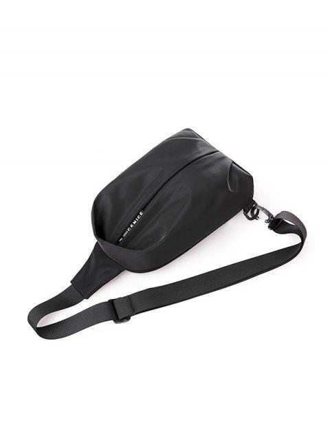 Bolsa de Pecho Casual de Color Sólido - Negro  Mobile