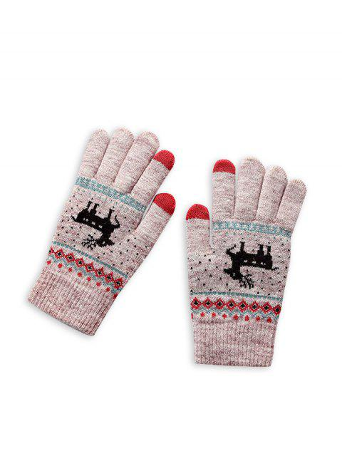 outfits Christmas Wapiti Pattern Gloves - LILAC  Mobile