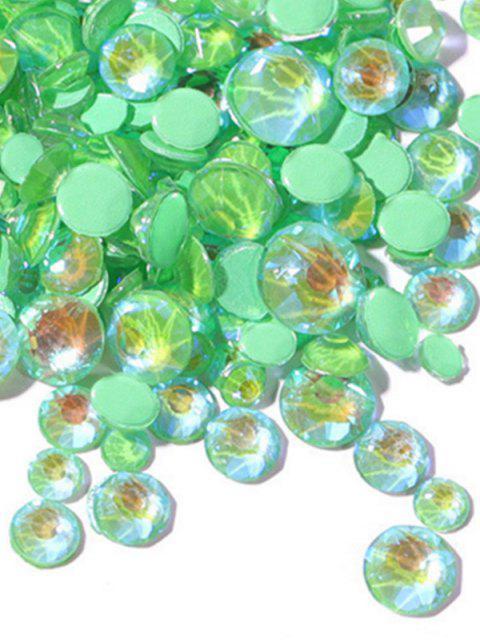 shop Glowing Fluorescent Glitter Faux Diamond Nail Decoration - PINE GREEN  Mobile