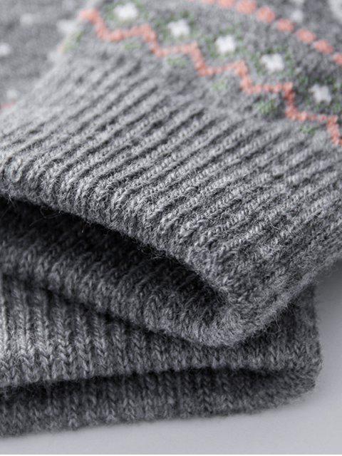 new Christmas Wapiti Pattern Gloves - BATTLESHIP GRAY  Mobile