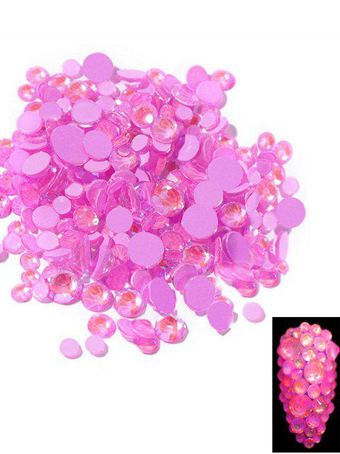 latest Glowing Fluorescent Glitter Faux Diamond Nail Decoration - VIOLET RED  Mobile