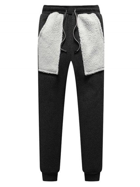 Contrasta la piel de imitación de bolsillo de empalme paño grueso y suave del basculador de pantalones - Gris Carbón XS Mobile