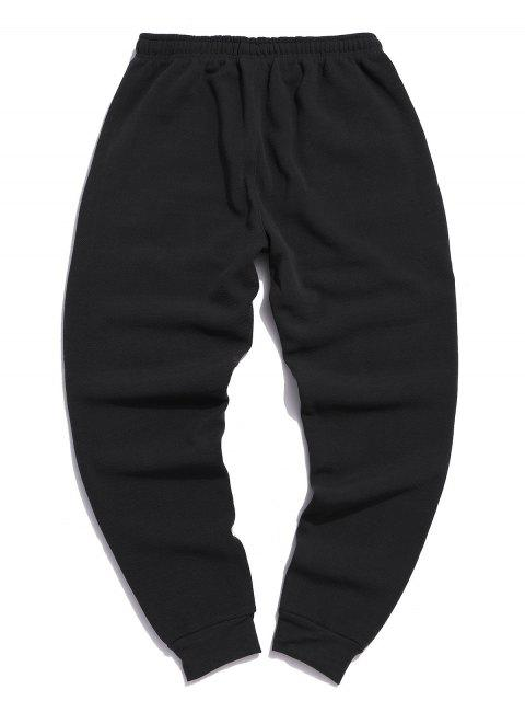Pantalones plisados del basculador cordón de lana sólidas - Gris Carbón M Mobile