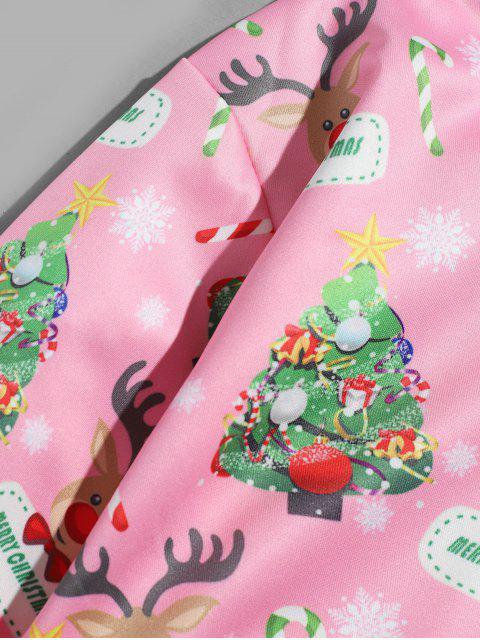 Árbol de Navidad con capucha Impreso Animal - Rosado 3XL Mobile