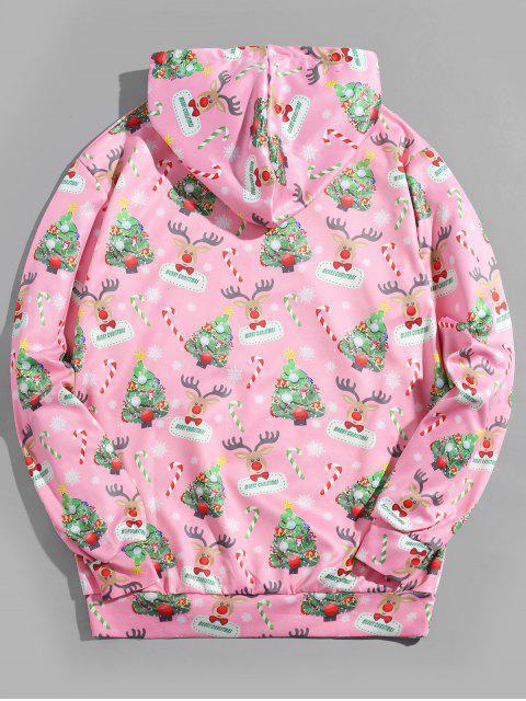 Árbol de Navidad con capucha Impreso Animal - Rosado M Mobile