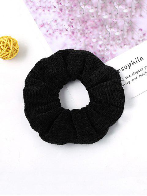 women Solid Suede Intestine Ring Elastic Hair Band - BLACK  Mobile