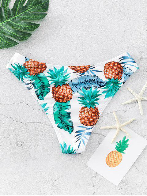 ZAFUL Ananas Palm Hoch Bein Bikini Bottom - Multi-A L Mobile