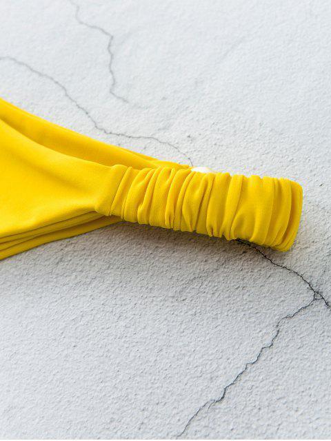 ZAFUL彈性邊低低腰比基尼底部 - 亮黃的 M Mobile