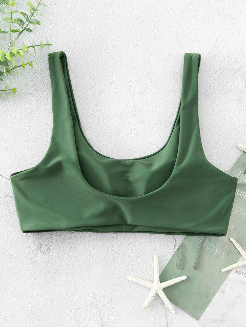 outfit ZAFUL Scoop Neck Padded Tank Bikini Top - HAZEL GREEN S Mobile