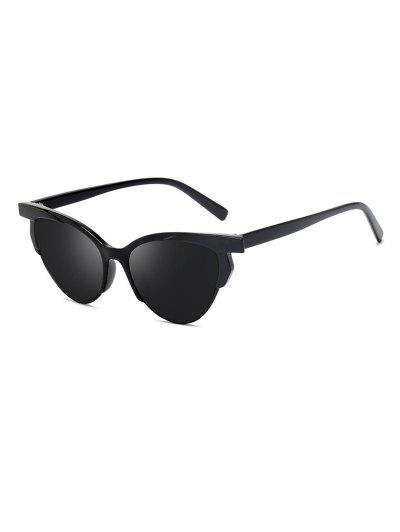 Anti UV Catty Eye Driving Sunglasses - Black