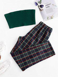 الصلبة حمالة الأعلى ومنقوشة مجموعة الملابس الداخلية - متعدد S