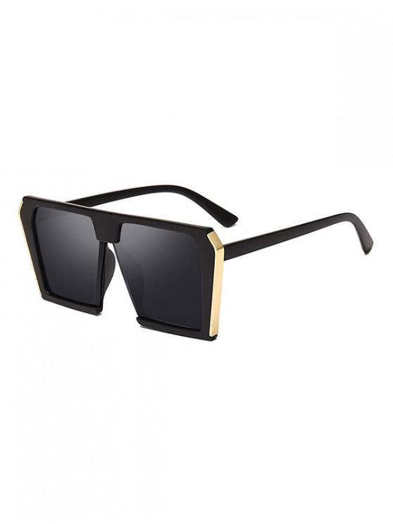 trendy Stylish Oversized Unisex Square Sunglasses - BLACK