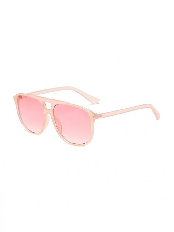 fancy Unisex Oversize Transparent Frame Sunglasses - PIG PINK