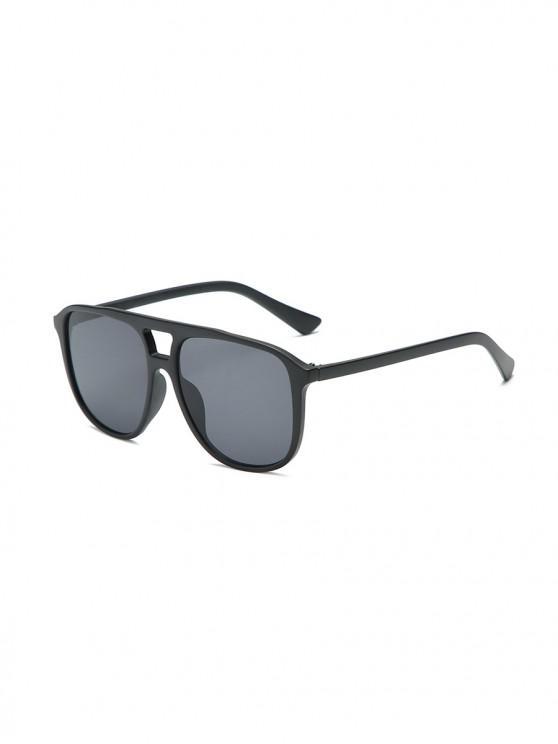 للجنسين النظارات الشمسية الإطار كبير جدا شفاف - أسود