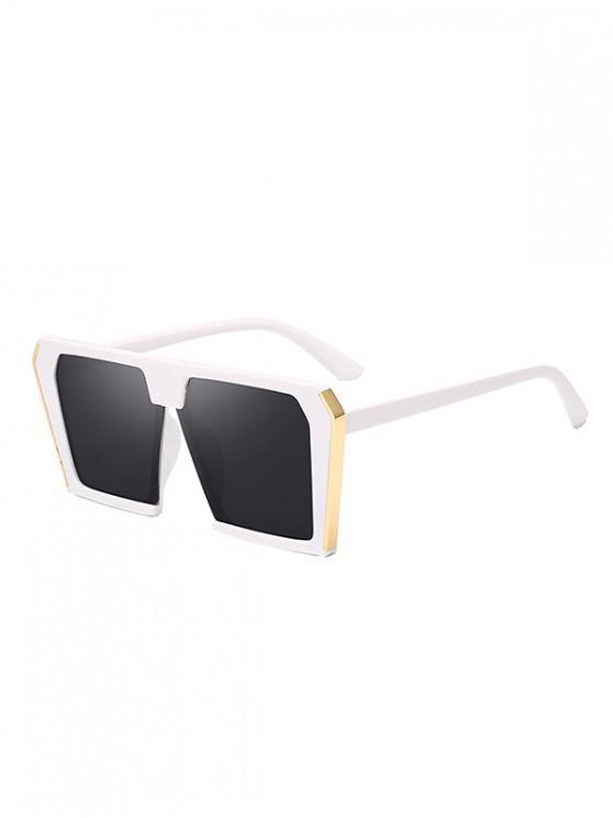 hot Stylish Oversized Unisex Square Sunglasses - WHITE