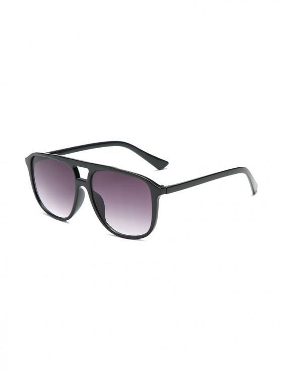 Унисекс Увеличенные Солнцезащитные Очки Прозрачная оправа - Тёмный-шифер серый цвет