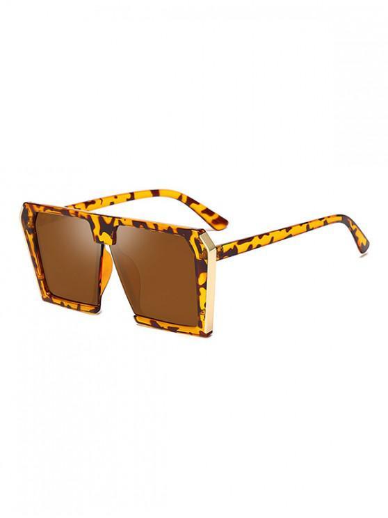 Стильные Крупногабаритные Квадратные Солнцезащитные Очки Унисекс - Леопард