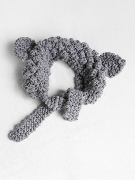 outfits Knitted Woolen Yarn Ears Shape Hair Accessories - GRAY